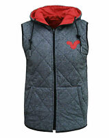 Voi Jeans Men's Cave Reversible Body Warmer Gilet  Grey/Red Small, Medium