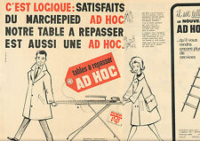 Publicité Advertising 1965 (Double page) Table à repasser AD HOC marchepied
