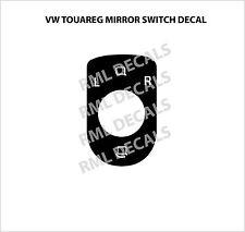 2004–2009 Volkswagen Touareg Power Mirror Switch Matte Black Mirror Switch Decal