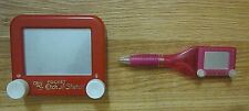 Pocket Etch-a-Sketch and Pen Ohio Art Lot of 2