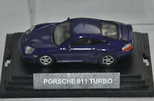 CARARAMA / HONGWELL - PORSCHE 911 TURBO SPORTS CAR - PURPLE - 1:72 SCALE MODEL