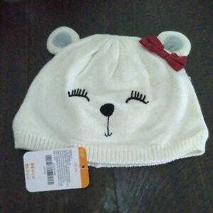 Gymboree NWT Girls Christmas Holiday Bear hat size 2/3t