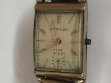 Vintage Wittnauer 10k Gold Filled Not Working Wrist Watch 9156