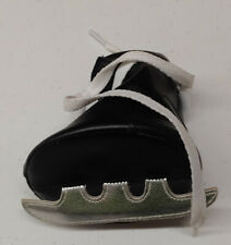 Build a Bear Workshop BABW Black White 1 Ice Hockey Skate with Laces