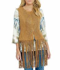 Reba Faux Suede Fringe Vest Womens Plus Size 3X NWT $118