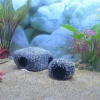 Stone Rock Cave Aquarium Tropical Cichlid Fish Tank Ornament Marbles. H0R7