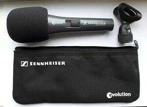 Sennheiser e 818 S II dynamic microphone, used, inc. mic clip, windshield, pouch