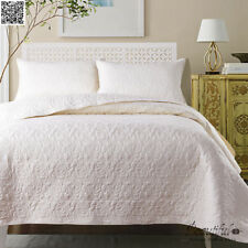 Cotton Patchwork Quilted Bedspreads Set Coverlet Queen/King Size Bed Blanket
