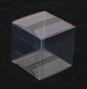 Clear Plastic Square Tiara Fascinator Presentation Display Box 5x5x5 cm