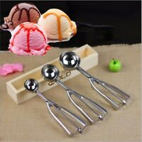 3Pcs Stainless Steel Ice Cream Scoop 4/5/6cm Cookie Mash Muffin Spoon Kitchen