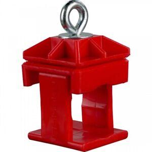 Schilderklemme, PVC, für Rund-und Vierkantrohr Vierkantrohre 40 x 40 mm; Rundro