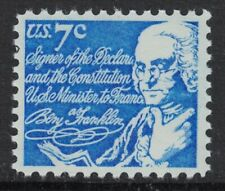 Scott 1393D- Benjamin Franklin- MNH 7c 1972- unused mint stamp