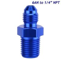 """6AN Male Flare to 1/4"""" NPT Pipe Thread Straight Adapter Flare Reducer Fitting"""