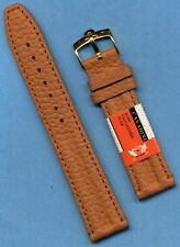 OMEGA GOLD PLATE BUCKLE & 20mm GENUINE CAVADINI TAN CALF LEATHER STRAP BAND TANG