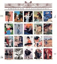 US MINT SHEET 34¢ 20 COMMEMORATIVE S AMERICAN ILLUSTRATORS C 2000 MNH