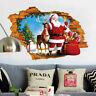 Christmas Wall Decor 3D Santa Claus Sticker Nursery Home Window Decoration Decal