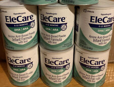Elecare Infant Dha Ara W/ Iron 14.1 Oz 6 Cans / 1 Case Exp 09/2021 Free Shipping