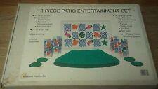 (1669) 13 Piece Patio Entertainment Set By Graduate Plastics Company