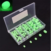 Size 10x15mm 50 pieces Soft Oval Luminous Glow in Dark  Fishing Beads