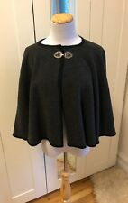 Casco Bay Wool Works Grey Cape Cloak 100% Wool Vintage Retro Pinup OSFA
