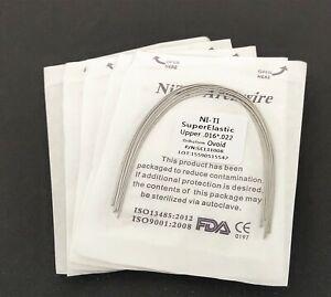 10 Packs Dental Super Elastic Niti Arch Wire Rectangular Orthodontics Wires