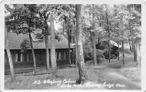 H70/ Lake Hope State Park Ohio RPPC Postcard c1950s Sleeping Cabins 224