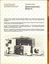 1970 ca EXOTECH INC. Spectroradiometer Model 10 - Technical data *Brochure