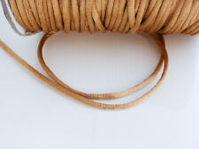 10 metres (10m) x Light Brown 2mm Rattail Rat Tail Nylon Threading Beading Cord