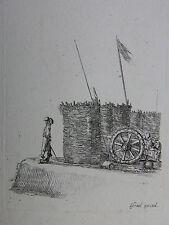 S. DELLA BELLA ´VERTEIDIGUNGSWALL MIT KANONE; DEFENSIVE WALL´ VESME 223, ~1641