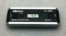 MITUTOYO PRO 3600 DIGITAL PROTRACTOR 950-316