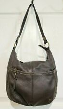 The Sak Brown Pebbled Leather Iris Large Hobo Shoulder Bag Handbag Purse