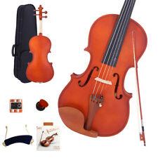 New 1/8 Size Natural Acoustic Violin+Case+Bow+Rosin+Shoulder Rest+ String+ Tuner