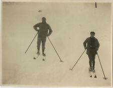 PHOTO ANCIENNE - VINTAGE SNAPSHOT - SPORT SKI ÉQUIPEMENT - SKIING 1929