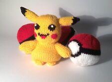 Pokemon Pikachu y Pokeball ir: Tejer patrón, niño seguro