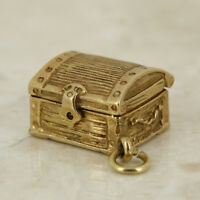 Vintage Treasure Chest Charm 9ct Yellow Gold