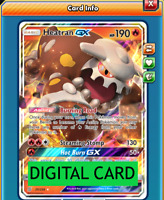 Heatran GX - 25/236 Unified Minds PTCGO Online Digital Card