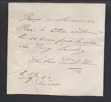 Arthur Saint-Léon Signed Note - Maître de Ballet of St. Petersburg Imperial Ball