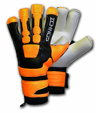 ICHNOS BRAJA HYBRID CUT SOCCER FOOTBALL FINGERSAVE GOALKEEPER GLOVES SIZE 9 1/2