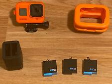 GoPro - HERO8 Black Camera, external charger, 3 batteries