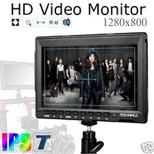 US Feelworld FW759 IPS 7'' HD 1280*800 Camera Field Monitor DSLR HDMI 1080P