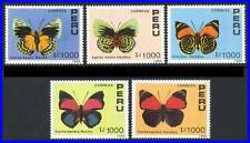 PERU 1990 BUTTERFLIES / INSECTS SC.#978-82 =GREAT SET! = VF MNH