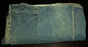 """VINTAGE FOLK ART """"AUTHENTIC U.S. HIPPIE RETIRED"""" DENIM JEAN QUILT BLANKET vafo"""