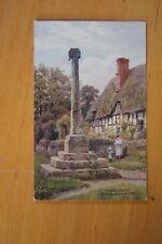 Rare Vintage Art Postcard Village Cross ASHTON UNDER HILL Worcs J Salmon Quinton