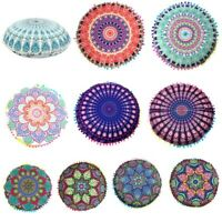 Round Mandala Meditation Floor Pillow Indian Tapestry Bohemian Pouf Throw Cover
