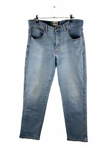 Mustang Stretch Denim Jeans Mens Size 92S Blue Zip Close Pockets Button Straight