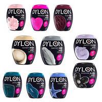 Dylon Fabric & Clothes Dye, Dylon Machine Dye Black, Navy Blue, Gray, Plum Red