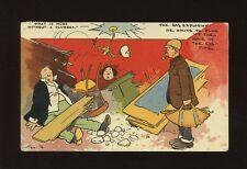 Artist TOM BROWNE Comic Plumber gas explosion PPC 1907
