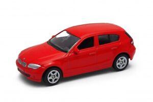 BMW Series 1 116i 116d 118d 120i 120d 123d E87 Red Welly 52268 1:60 1:64 Toy Car