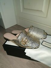 Gucci marmont Schuhe Gold 38