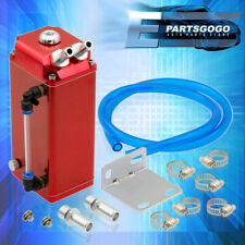For Honda Civic S2000 Integra CRX Red Square 600ML Oil Catch Can Reservoir Tank(Fits: More than one vehicle)